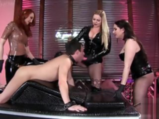 three latex mistresses