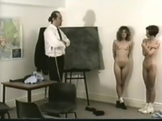 spanked stripped classroom
